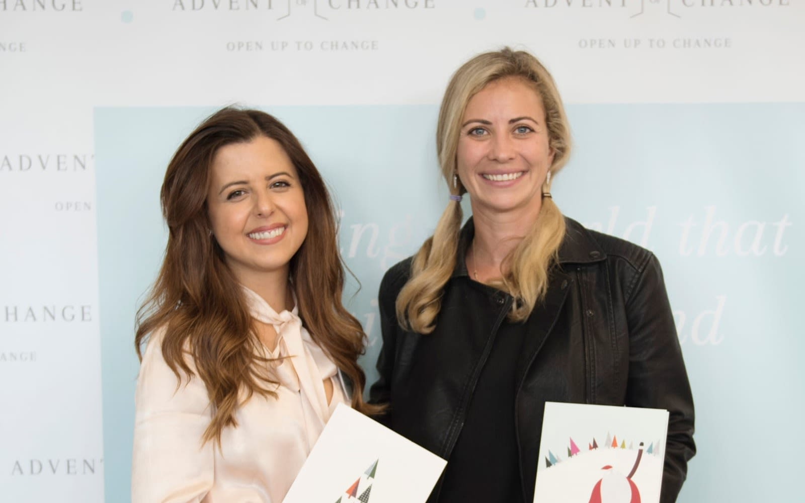 Holly Branson with Advent of Change founder Kristina