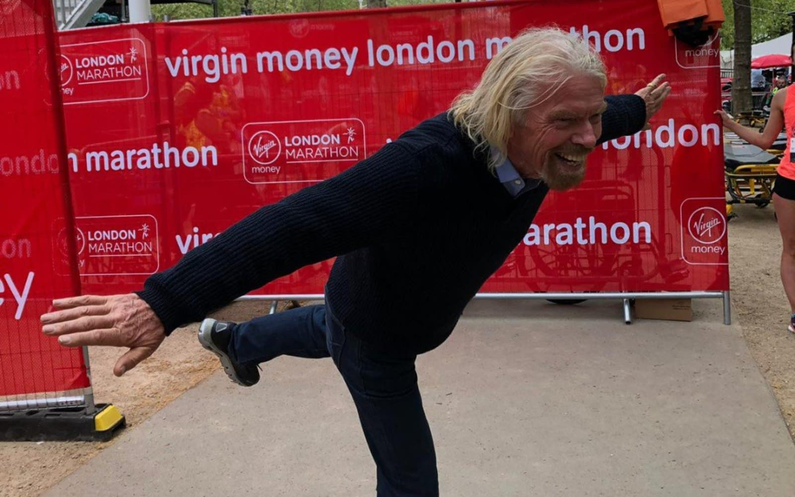 Richard Branson at the Virgin Money London Marathon