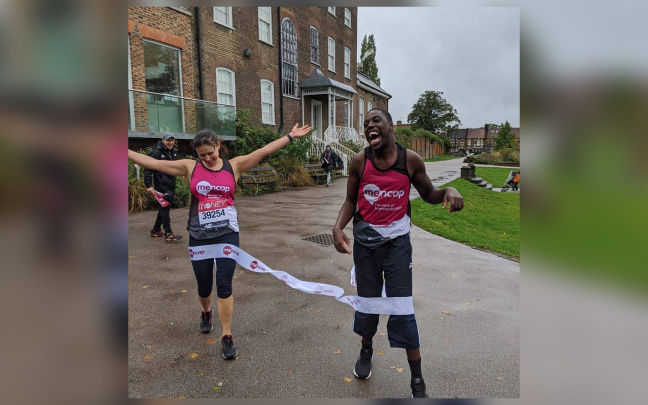 Aaron Plummer running the virtual Virgin Money London Marathon and fundraising for Mencap