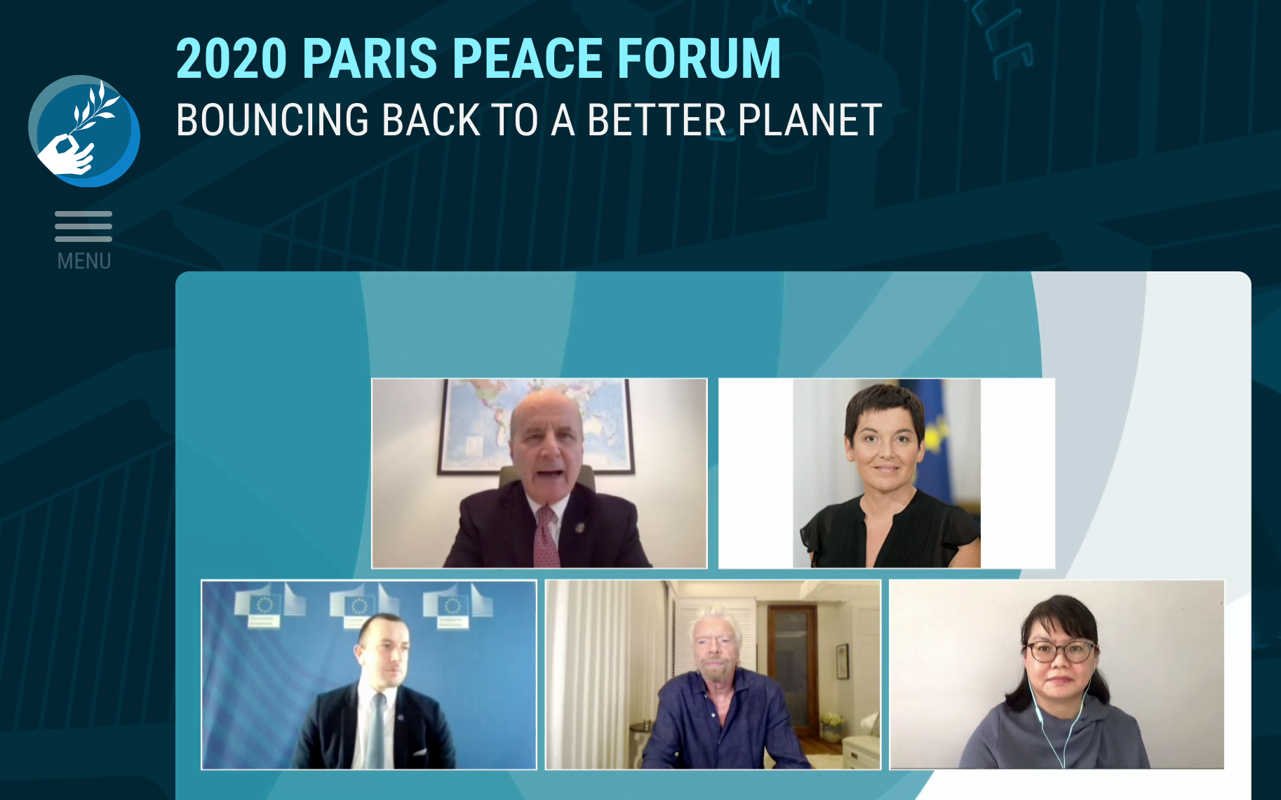 Image from the Paris Peace Forum