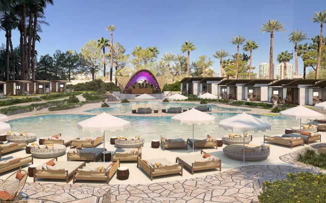 Virgin Hotels Las Vegas pool complex