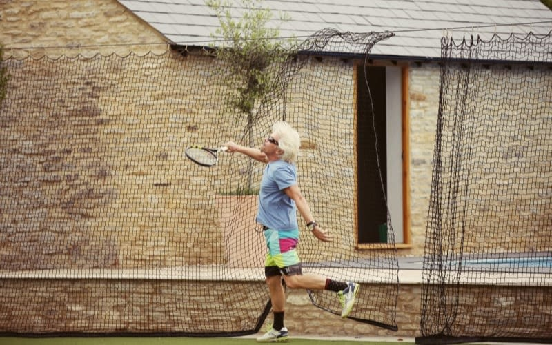 Richard playing tennis in Oxford