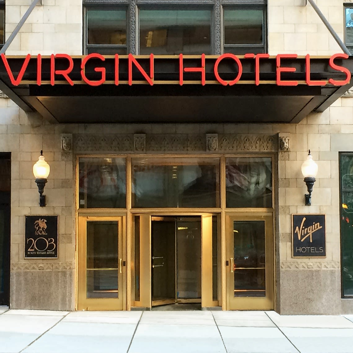 The entrance to Virgin Hotels Chicago