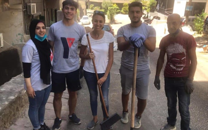 Virgin Radio Lebanon team helping clear streets following the Beirut explosion