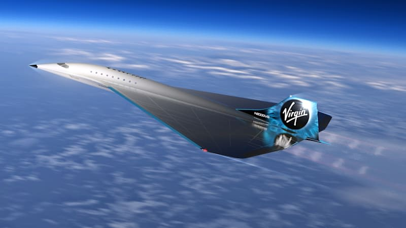 Virgin Galactic high speed render