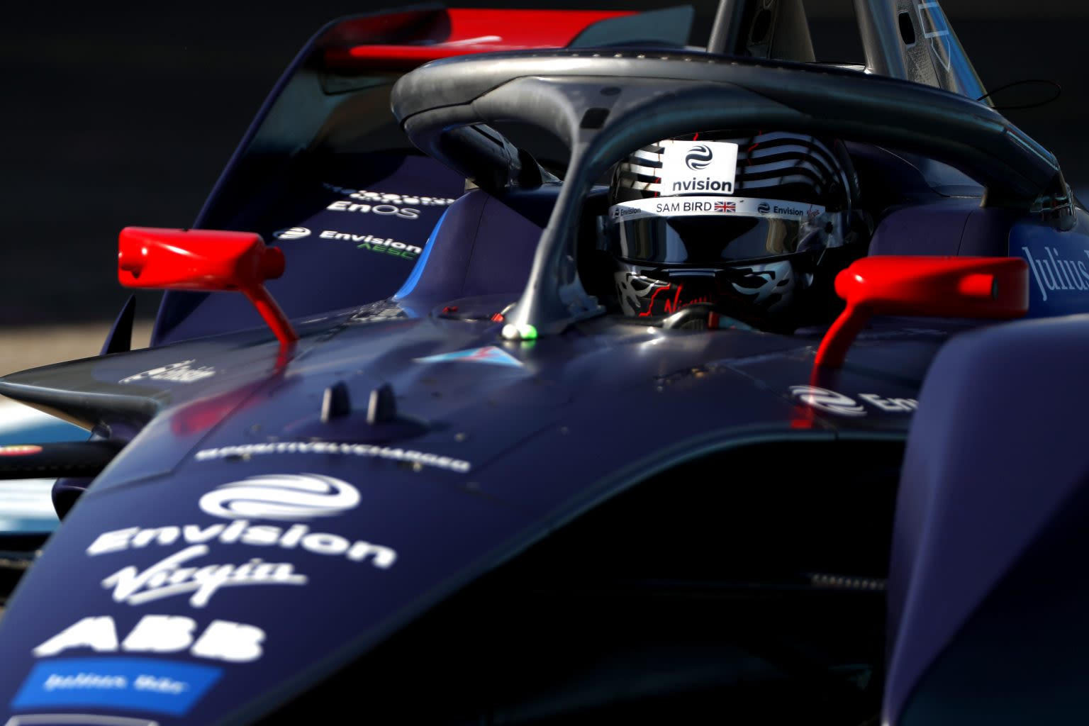 Sam Bird in an Envision Virgin Racing car