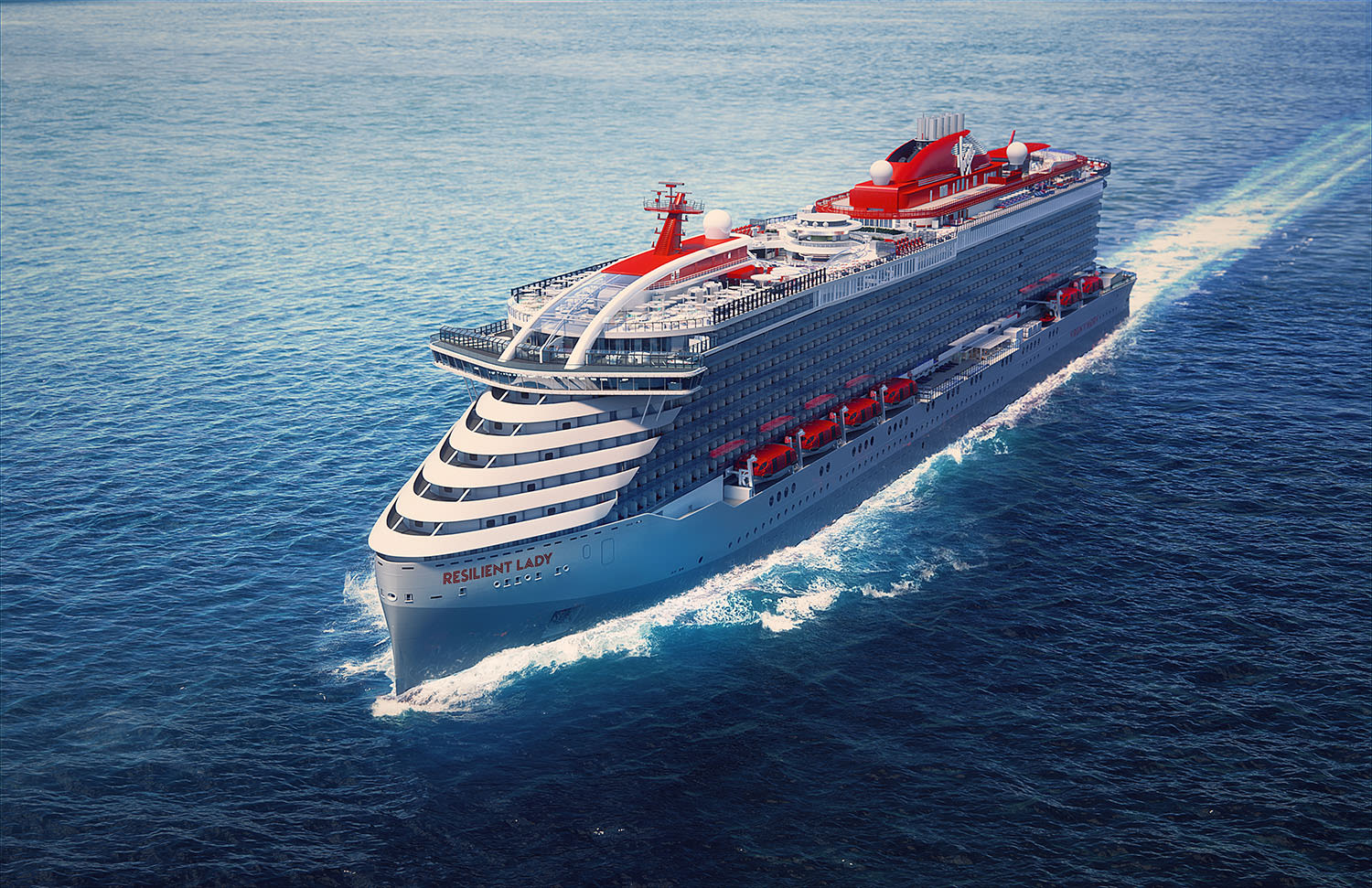 Virgin Voyages' Resilient Lady ship