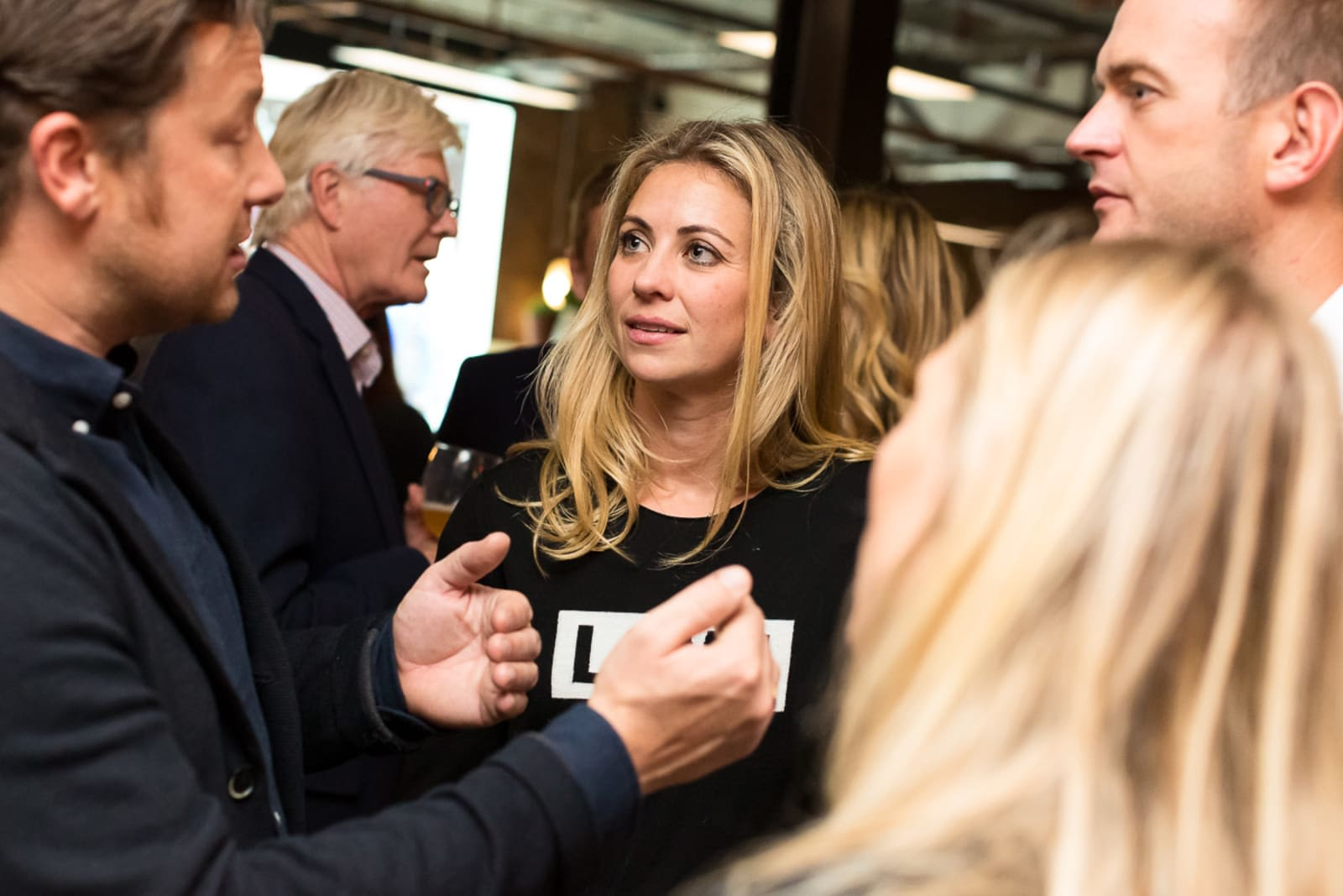 Holly Branson and Freddie Andrewes speak to Jamie Oliver at the Bite Back 2030 launch event