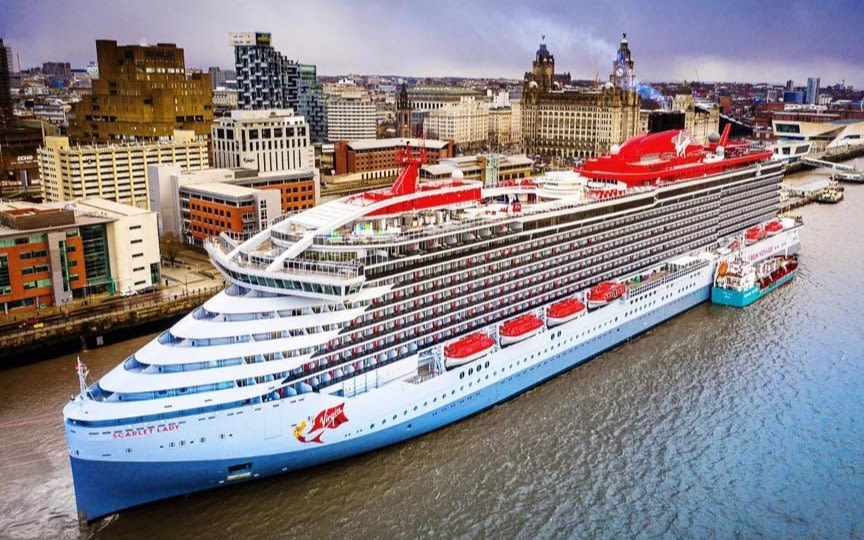 The Scarlet Lady cruise ship in Liverpool