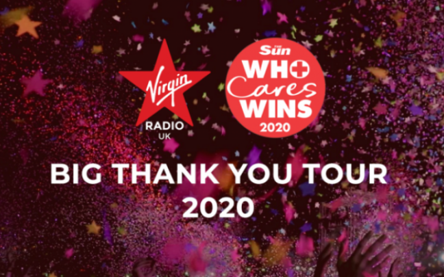 Graphic for the Virgin Radio Big Thank You Tour 2020