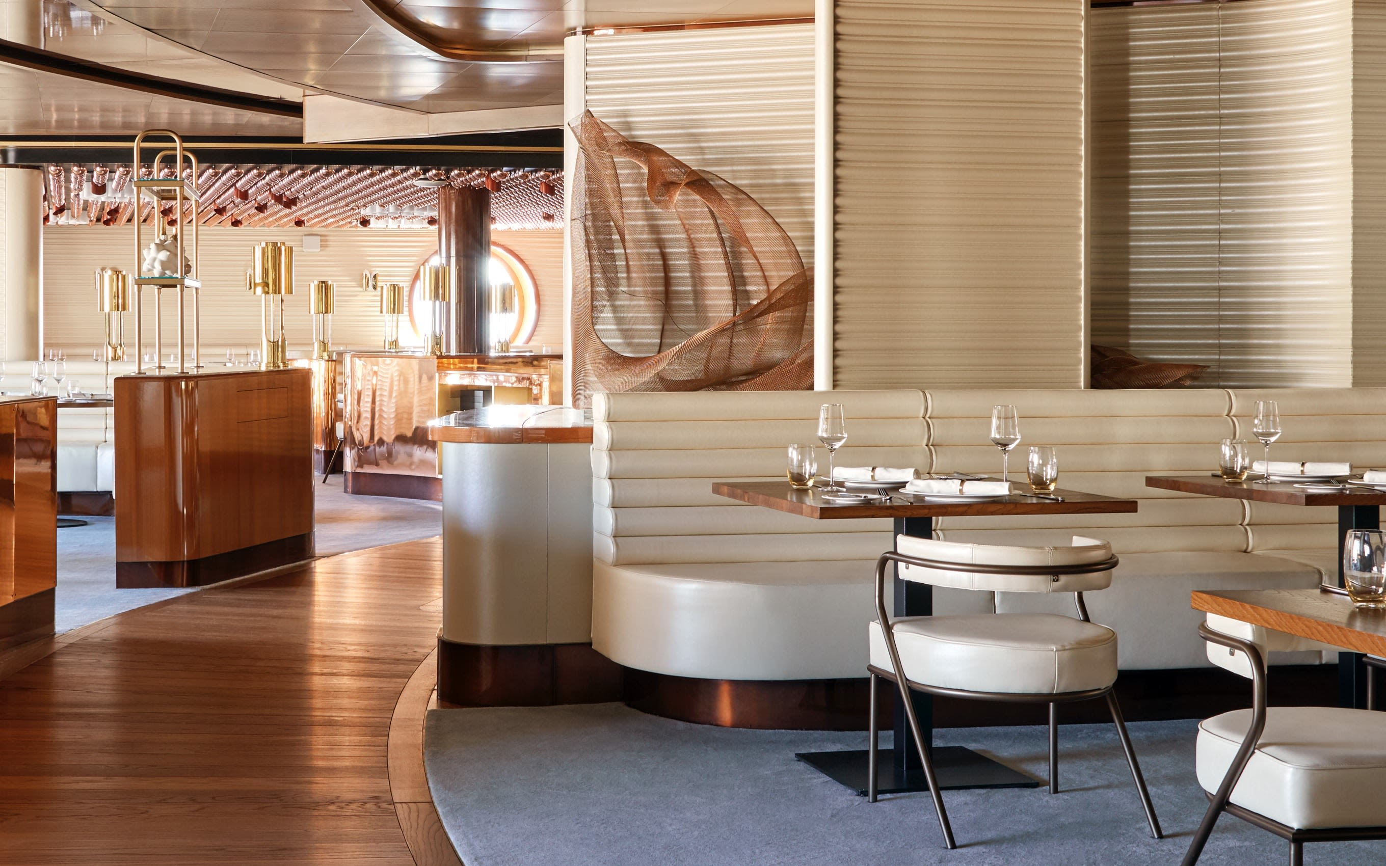 The Wake restaurant onboard Virgin Voyages' Scarlet Lady