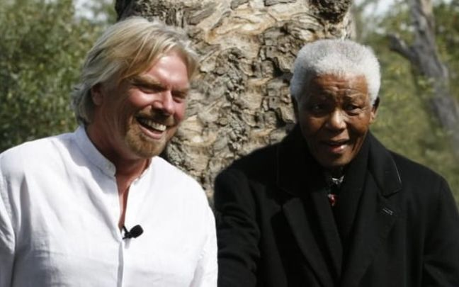 Richard Branson with Nelson Mandela