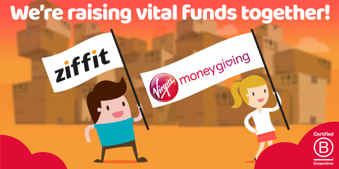 Ziffit and Virgin Money Giving are raising vital funds together