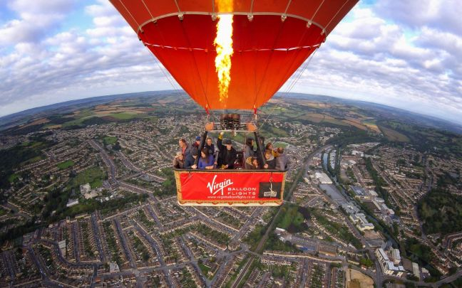 Virgin Balloons flight group hot air balloon photo from 2019