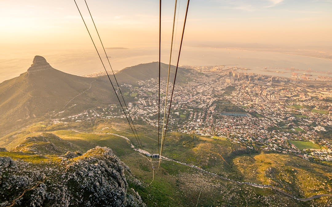 Cable car in Capetown