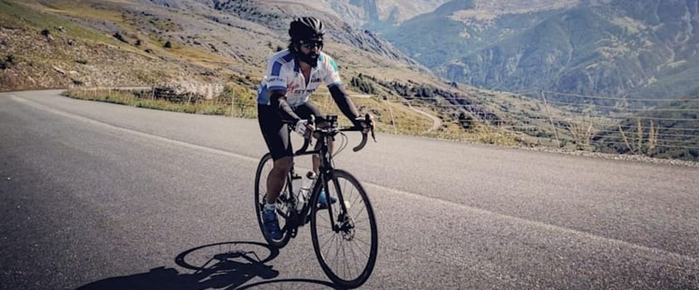 a cyclist on the 2018 strive challenge