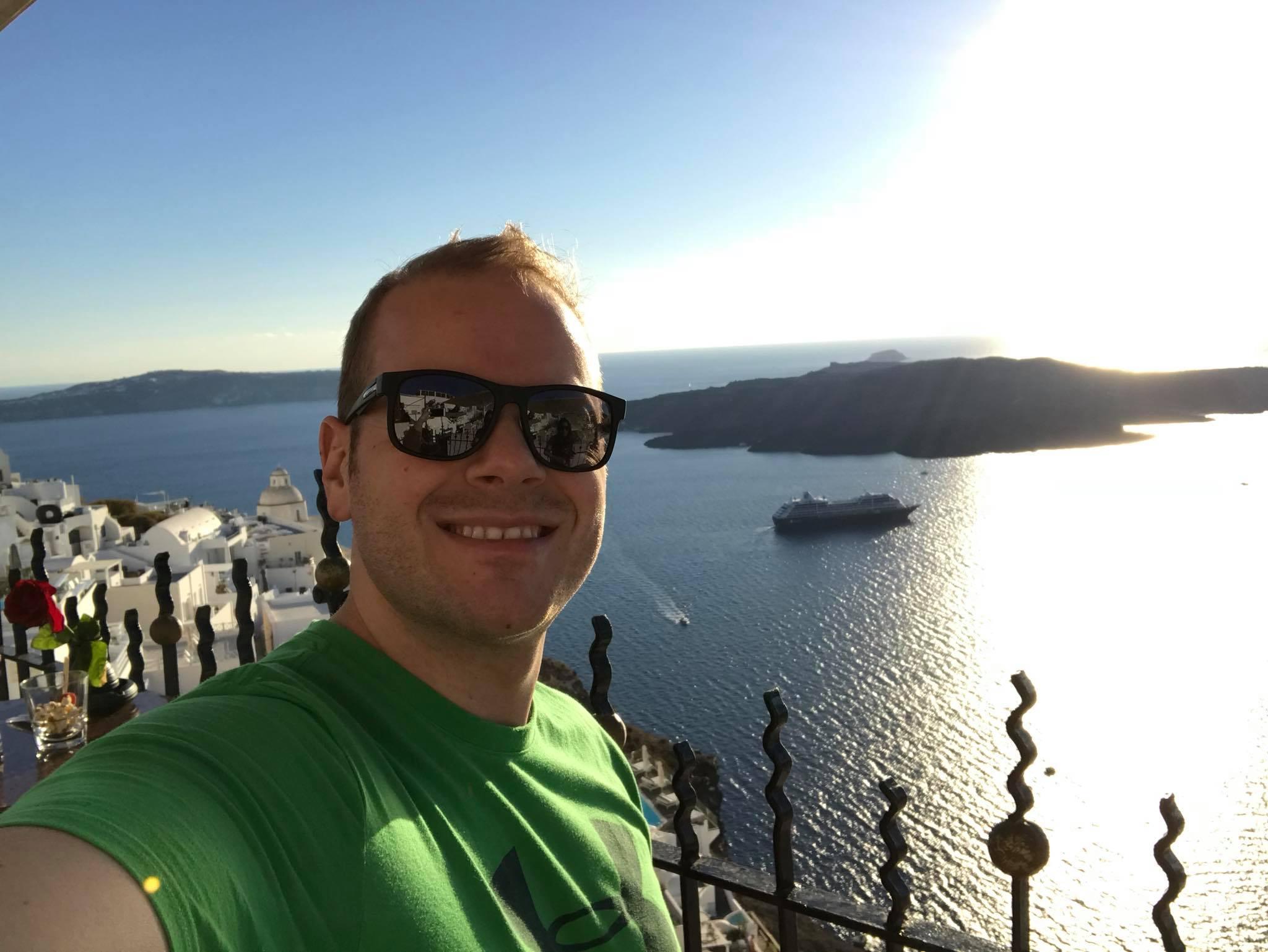 Josh in Santorini