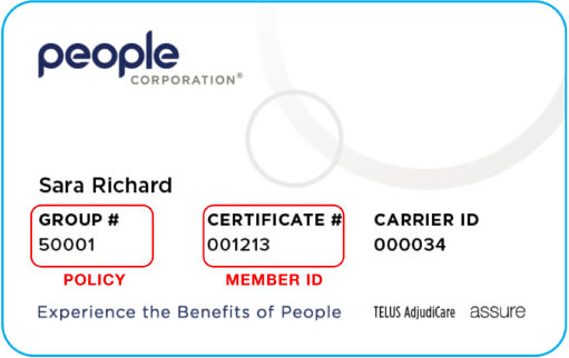 People Corporation sample card