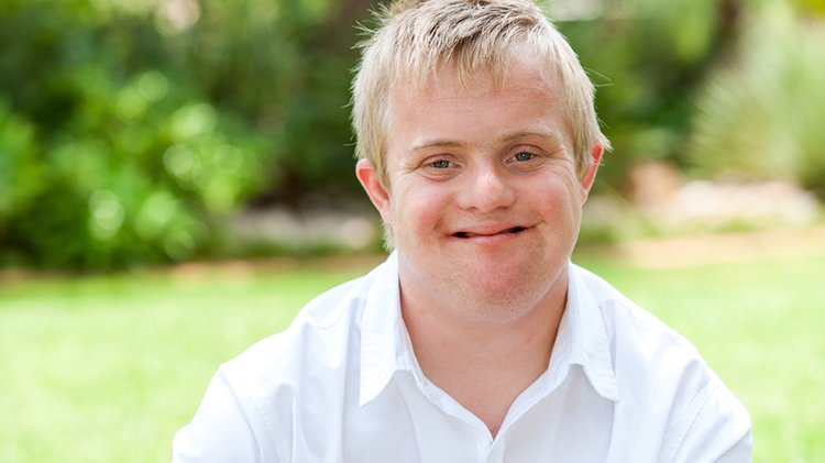 A young man with developmental disabilities