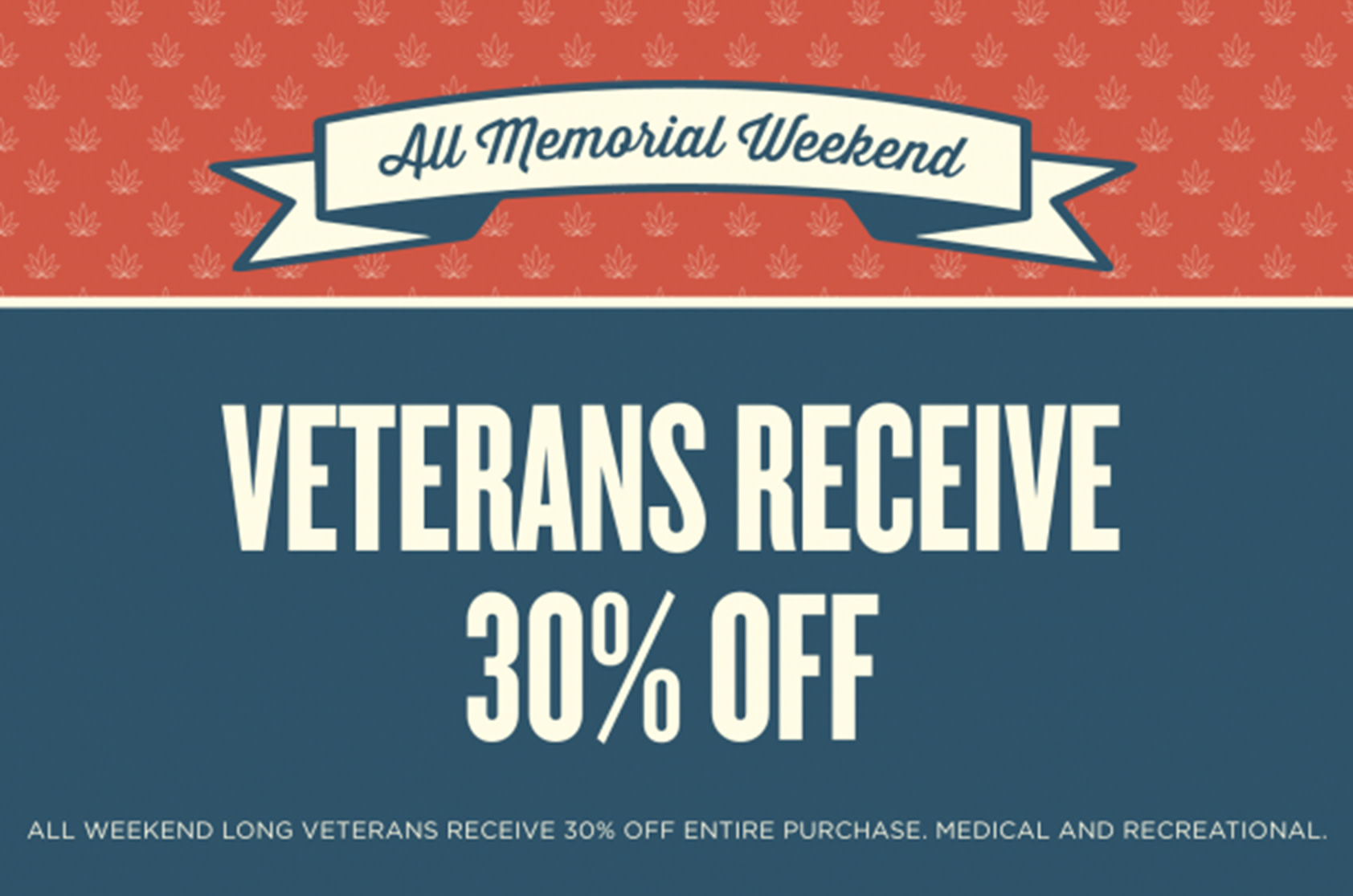 Veterans Receive 30% Off