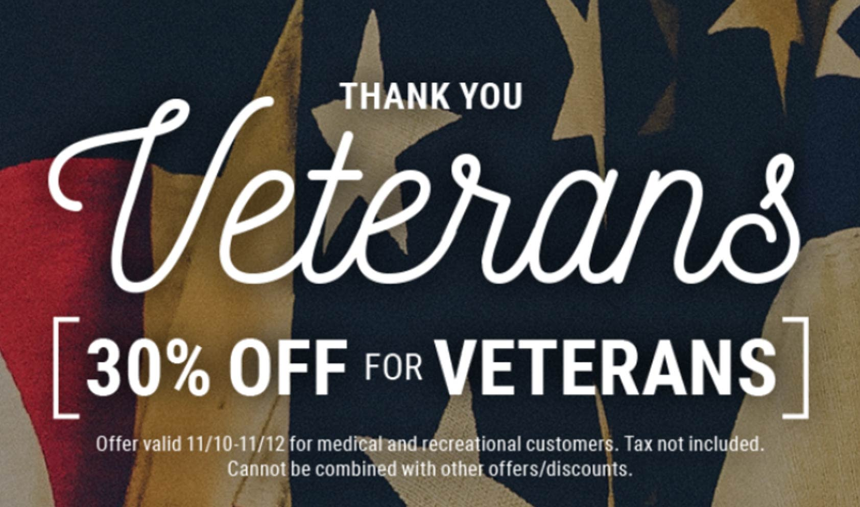 Native Roots Cannabis Company Veterans Day Discount