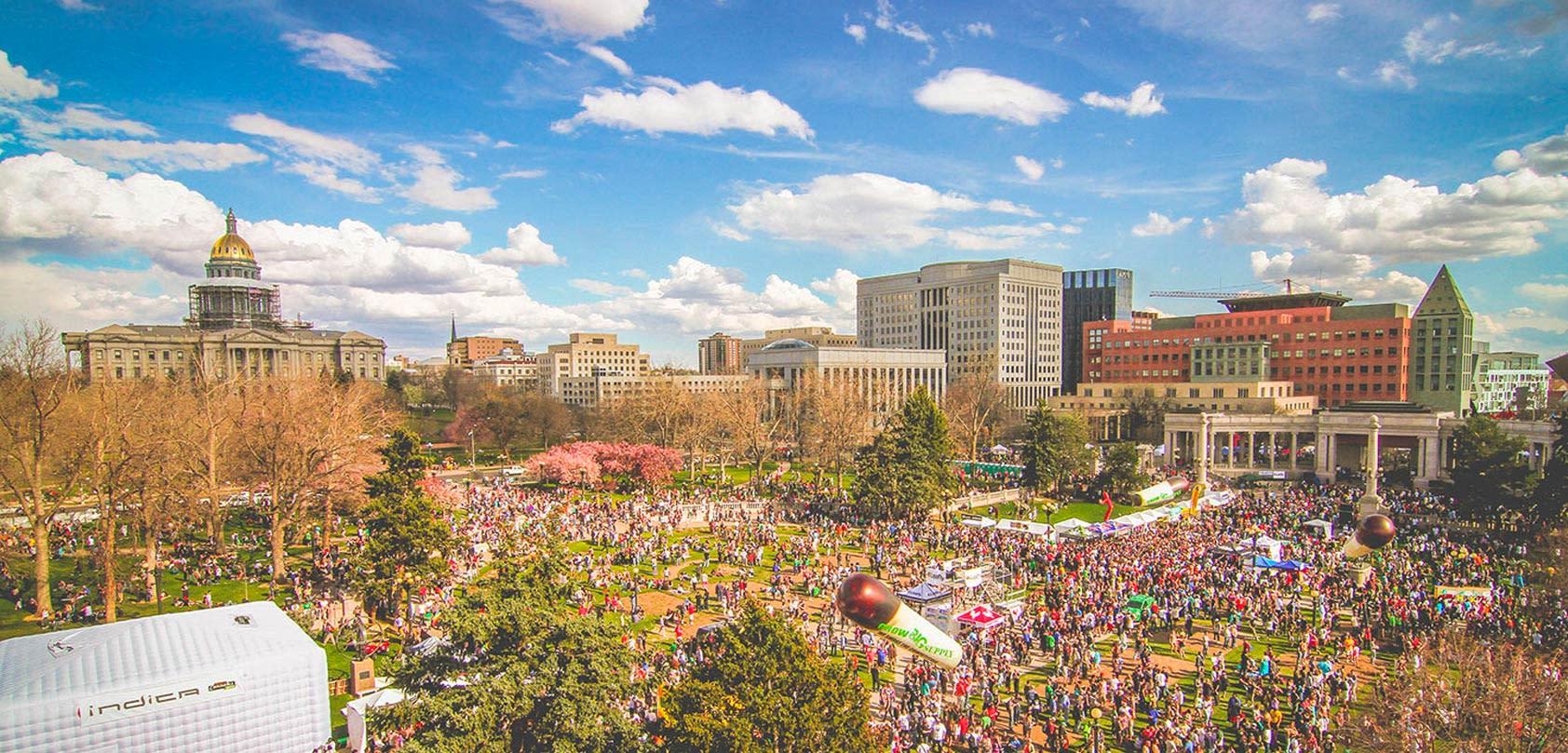 Native Roots Dispensary 420 Rally in Civic Center Park Denver Colorado 2016