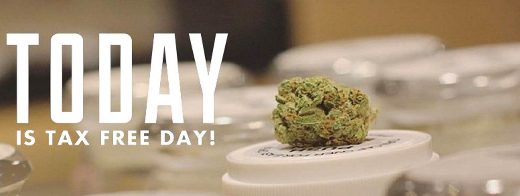 Weed in Native Roots Store for Tax Free Day