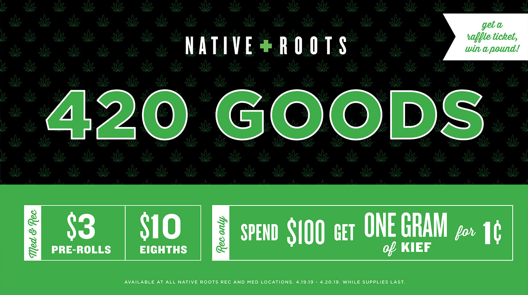 Native Roots 1lb Giveaway - 420 Goods