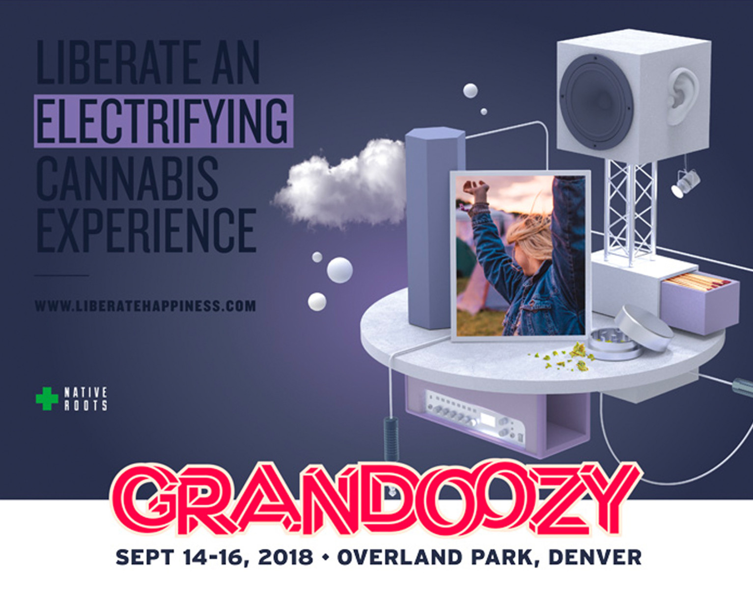 Native Roots Dispensary Grandoozy Concert Denver Colorado Win Tickets