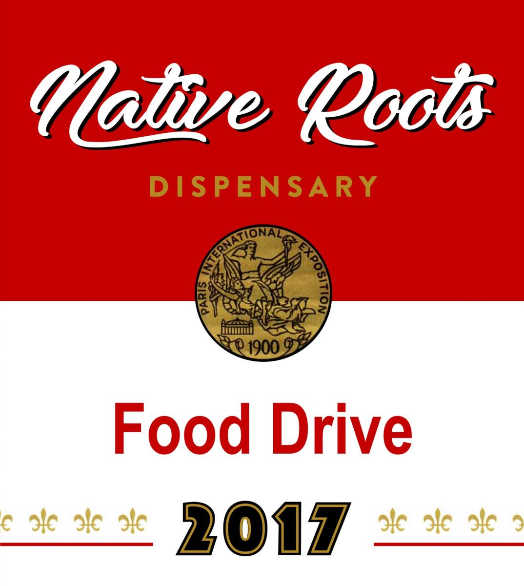 Native Roots Pot Store Food Drive