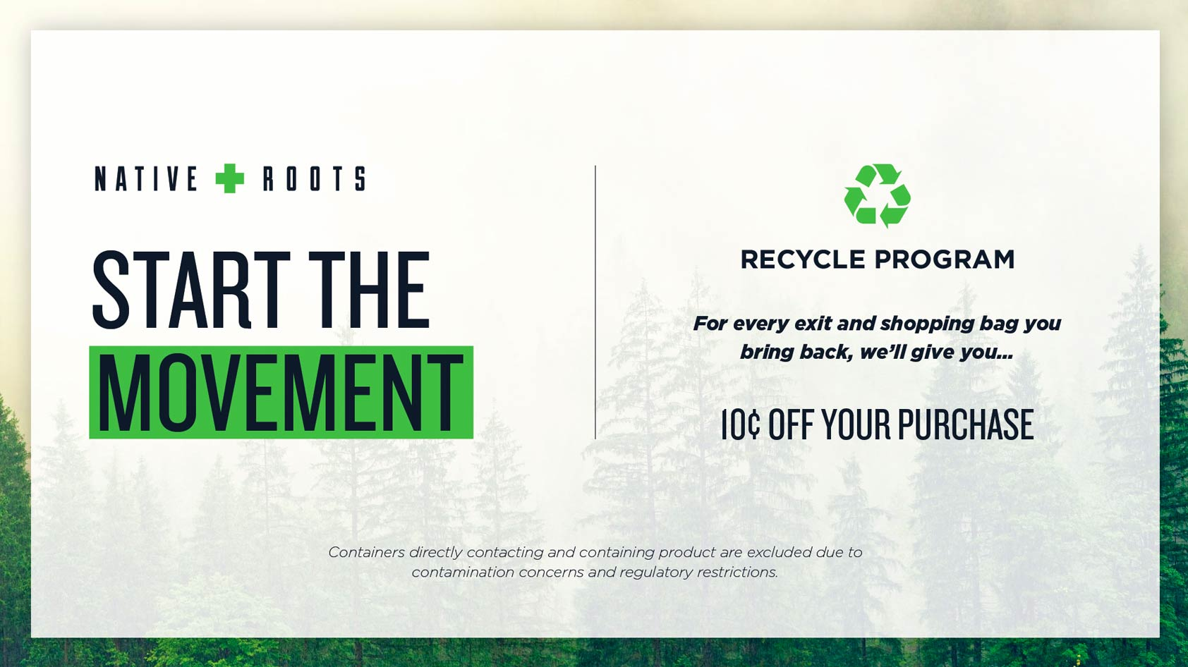 Native Roots Dispensary Recycle Program