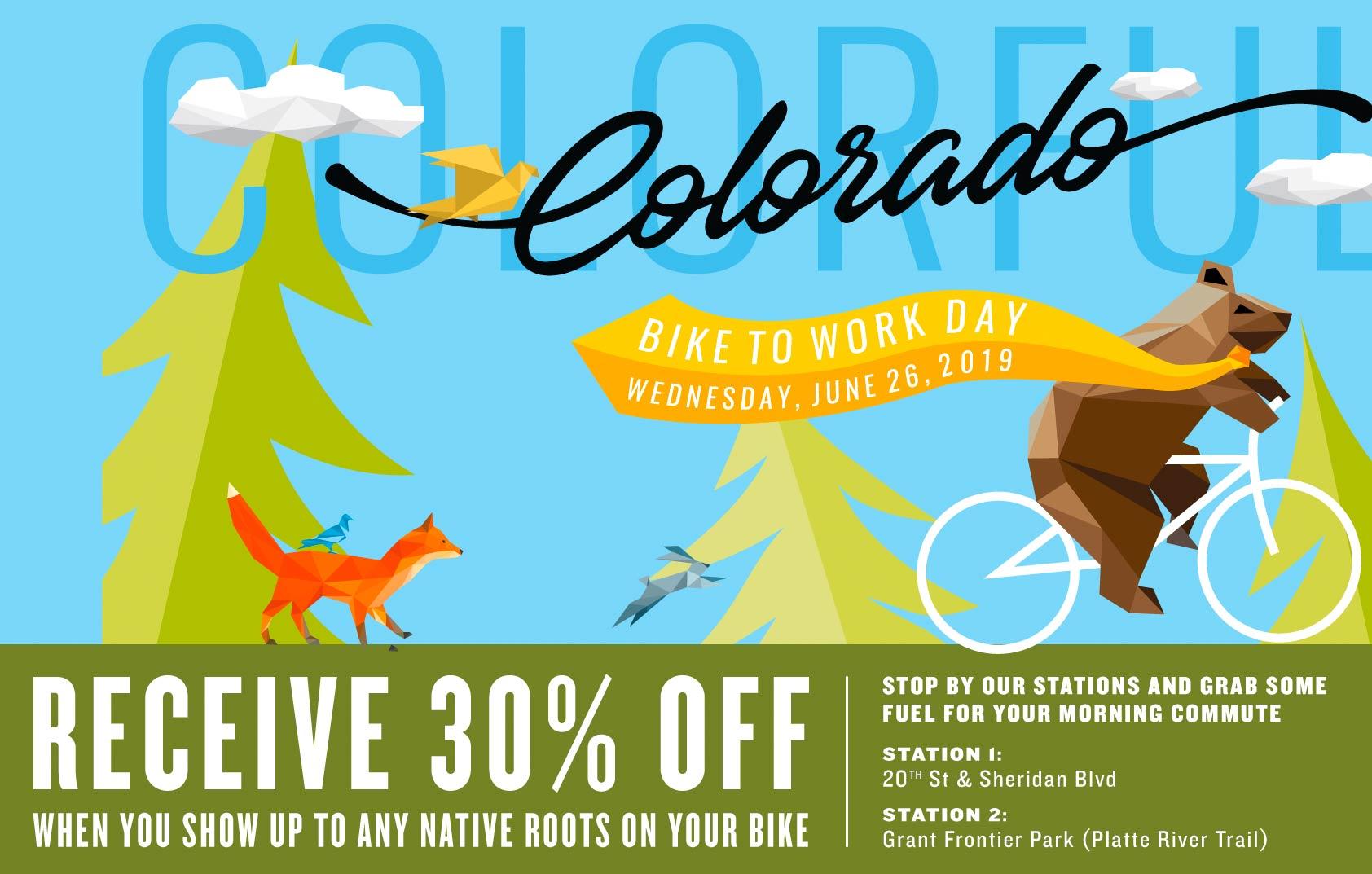 Native Roots Dispensary Bike to Work