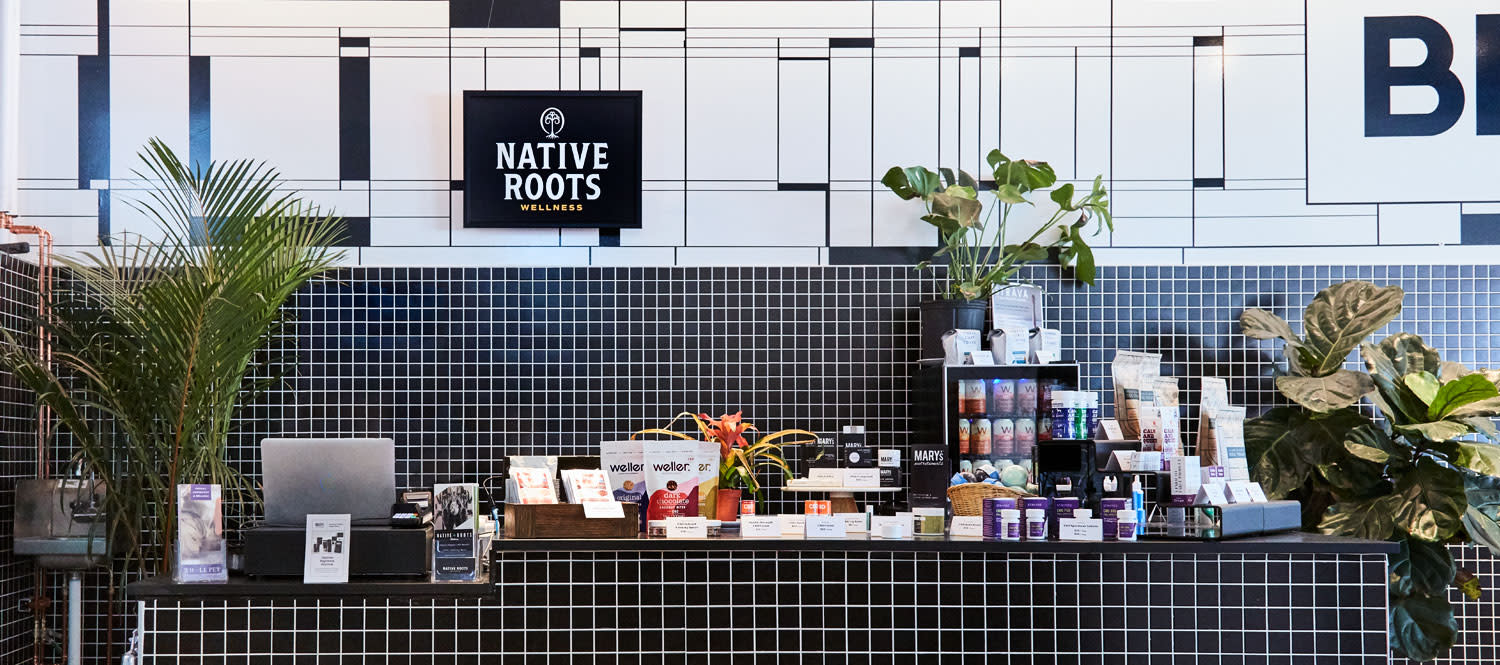 Native Roots Wellness CBD and Hemp - At the Broadway Market interior of the store