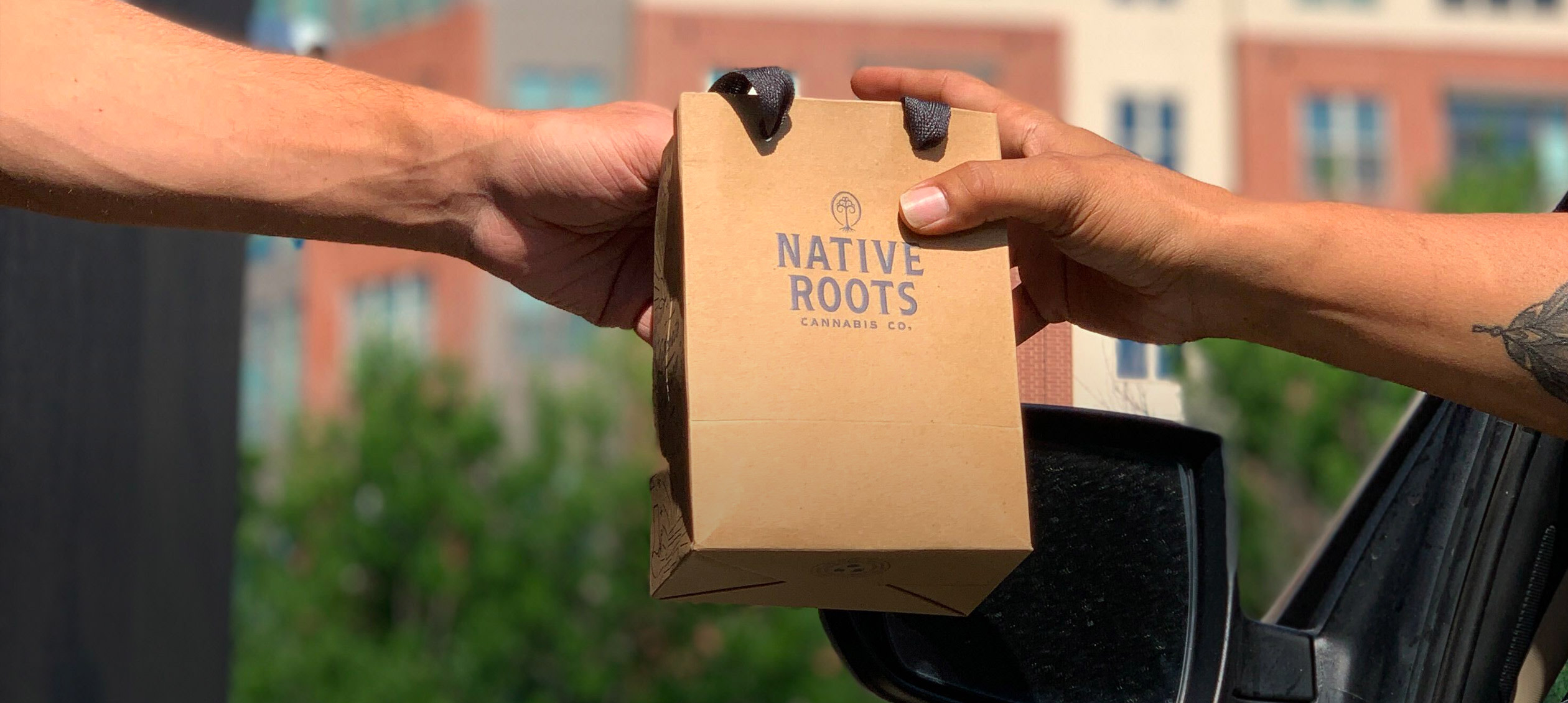 Native Roots Drive Thru Order being fullfilled