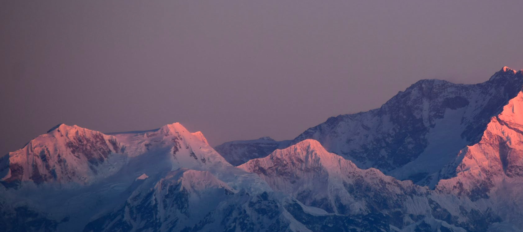 Photo of Mountains with Alpenglow