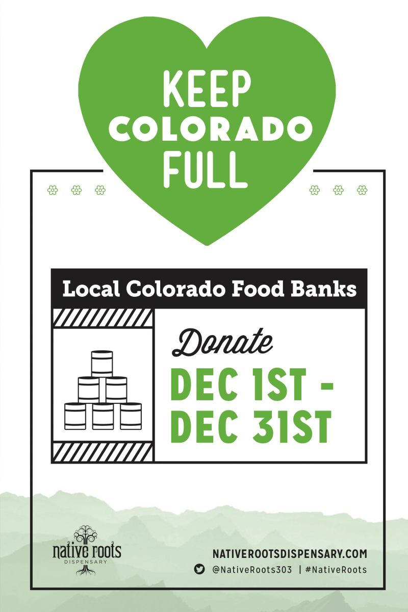 Native Roots Dispensary Keep Colorado Full Canned Food Drive
