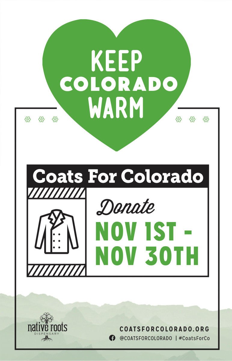 Native Roots graphic for Keep Colorado Warm Donations