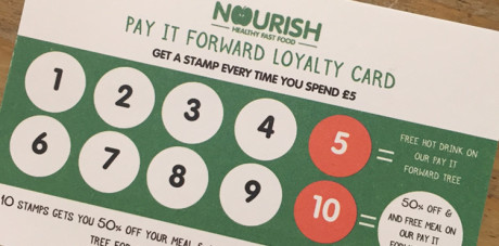 Nourish launch new charity loyalty card
