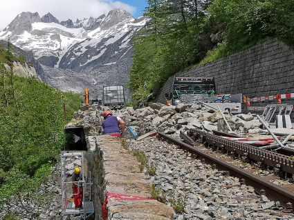 DFB Baustelle vor Gletsch