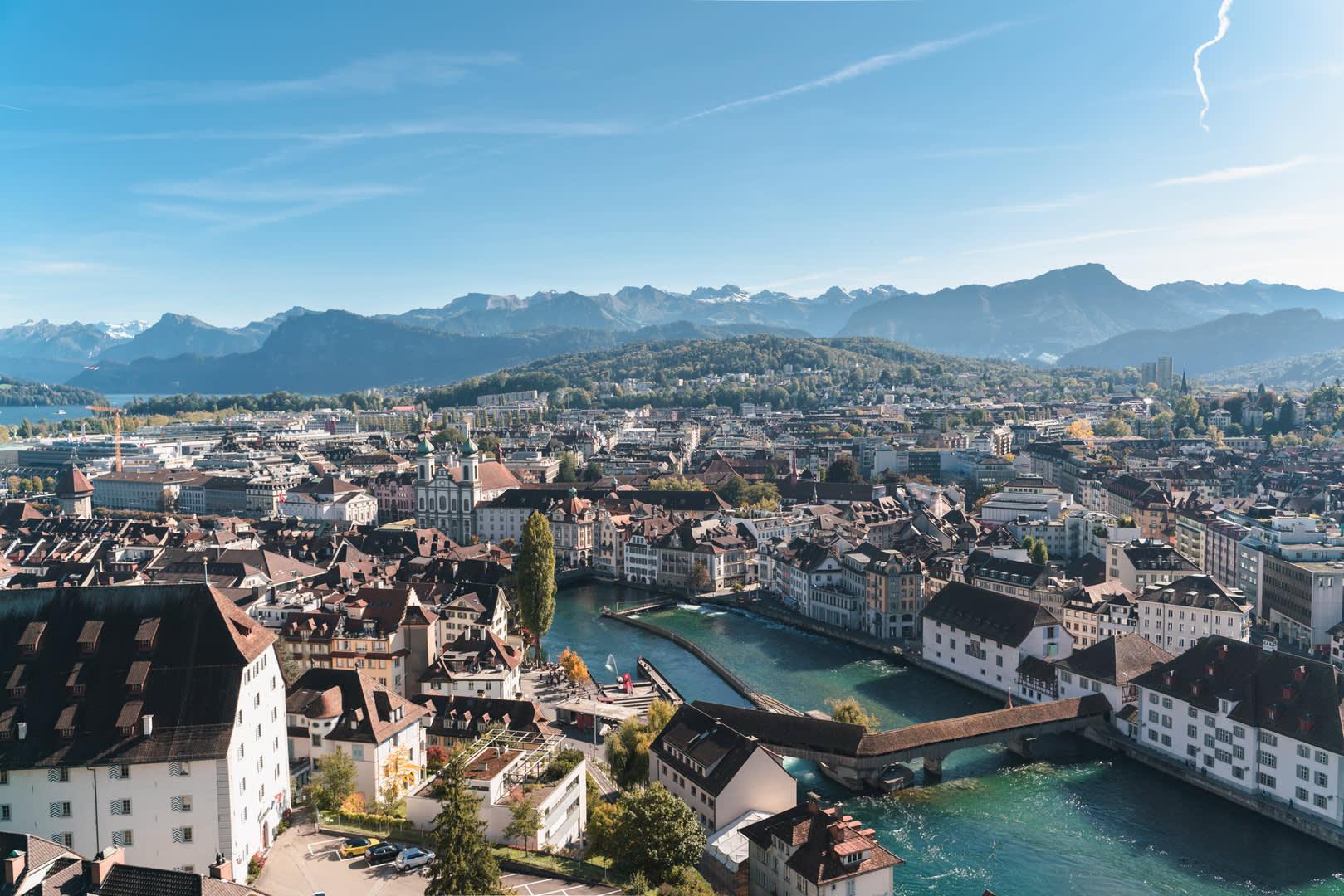 Aussicht von der Museggmauer Luzern