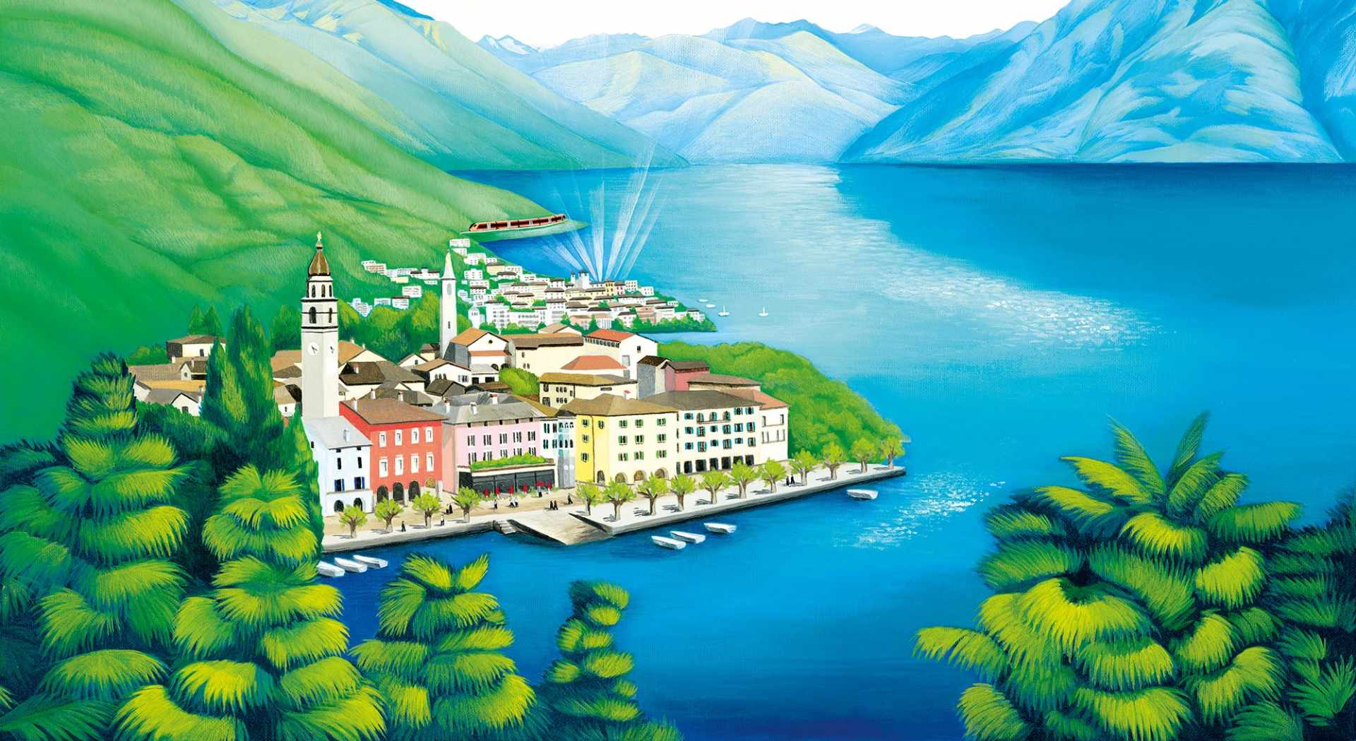 Ascona gemalt von Iluna Tinta