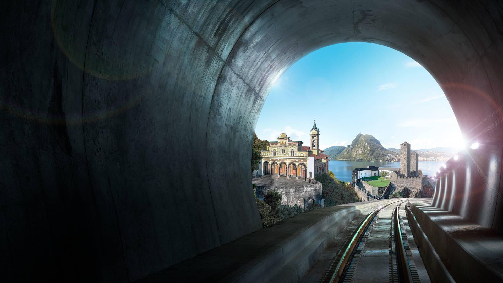 Ceneri-Basistunnel zwischen Lugano und Bellinzona