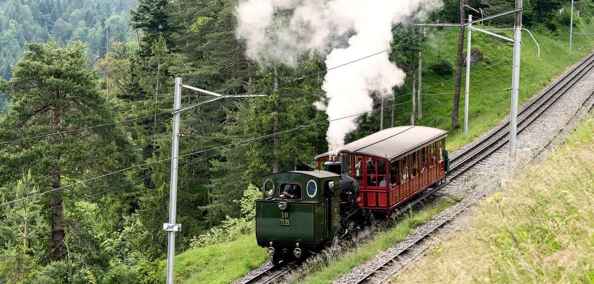 Die erste Bergbahn mit Steinkohle auf die Rigi