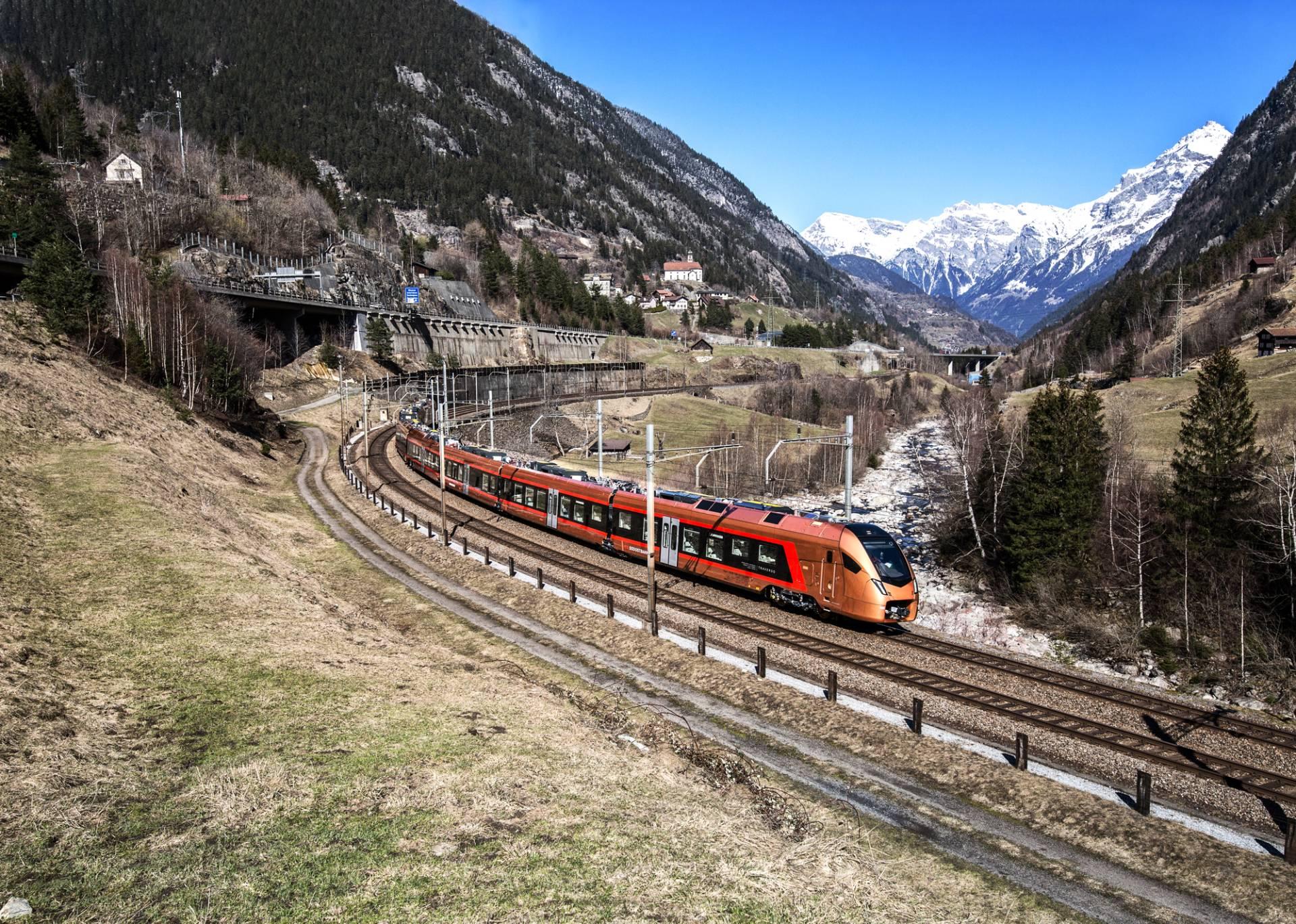 Gotthard-Panoramastrecke in Wassen