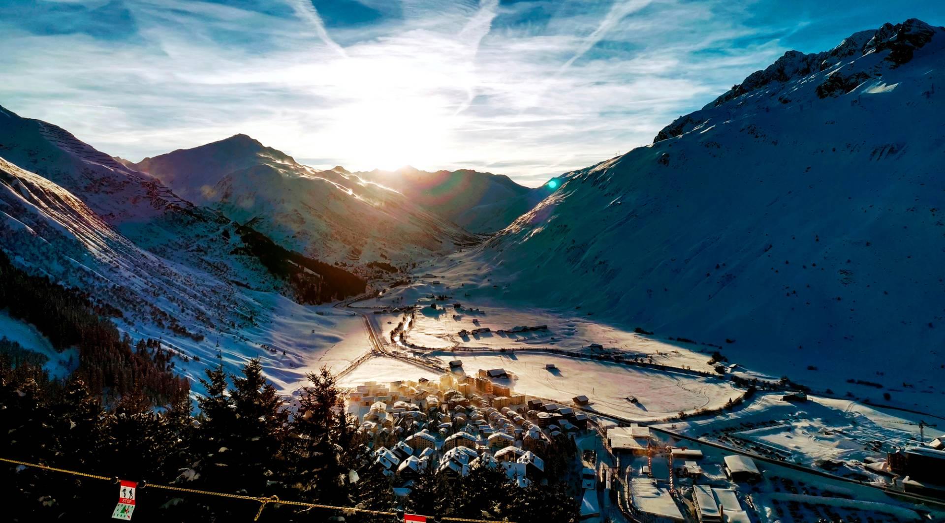 Winteraussicht in Andermatt