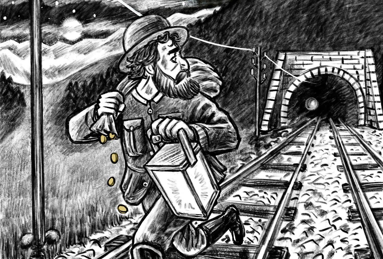 Schnitzeljagd und Rätselspass Treno Mistero: Davide Cipollata auf der Flucht
