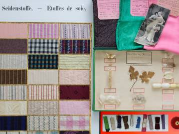 Materialsammlung im Textilmuseum