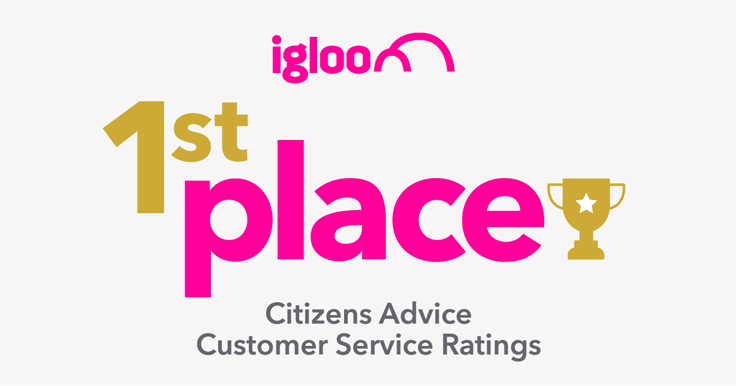We did it – Igloo takes first in the Citizens Advice Customer Service Ratings