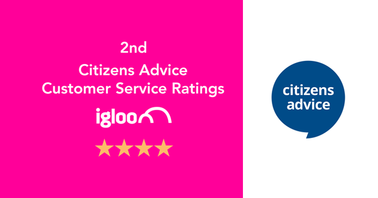2nd for Customer Service, Citizens Advice | Igloo Energy