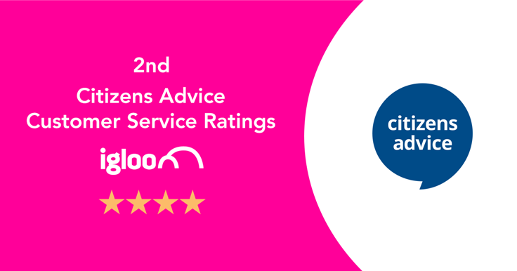 Igloo scores 2nd place in Citizens Advice Customer Service ratings